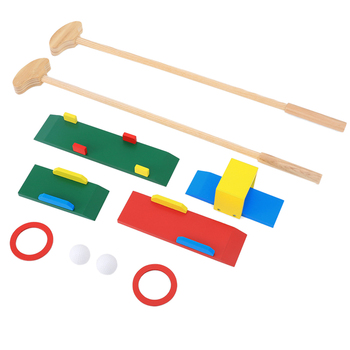 10Pcs Children Wooden Golf Playset Indoor Outdoor Fitness Educational Toys For Children School Play Game Christmas Birthday Gift