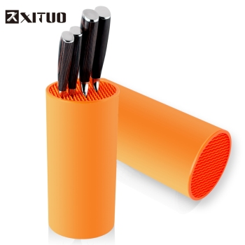 XITUO Tool holder knife Kitchen block orange stand sooktops tube shelf multifunctional bar outdoor BBQ Knife Sets New HOT - discount item  48% OFF Kitchen,Dining & Bar