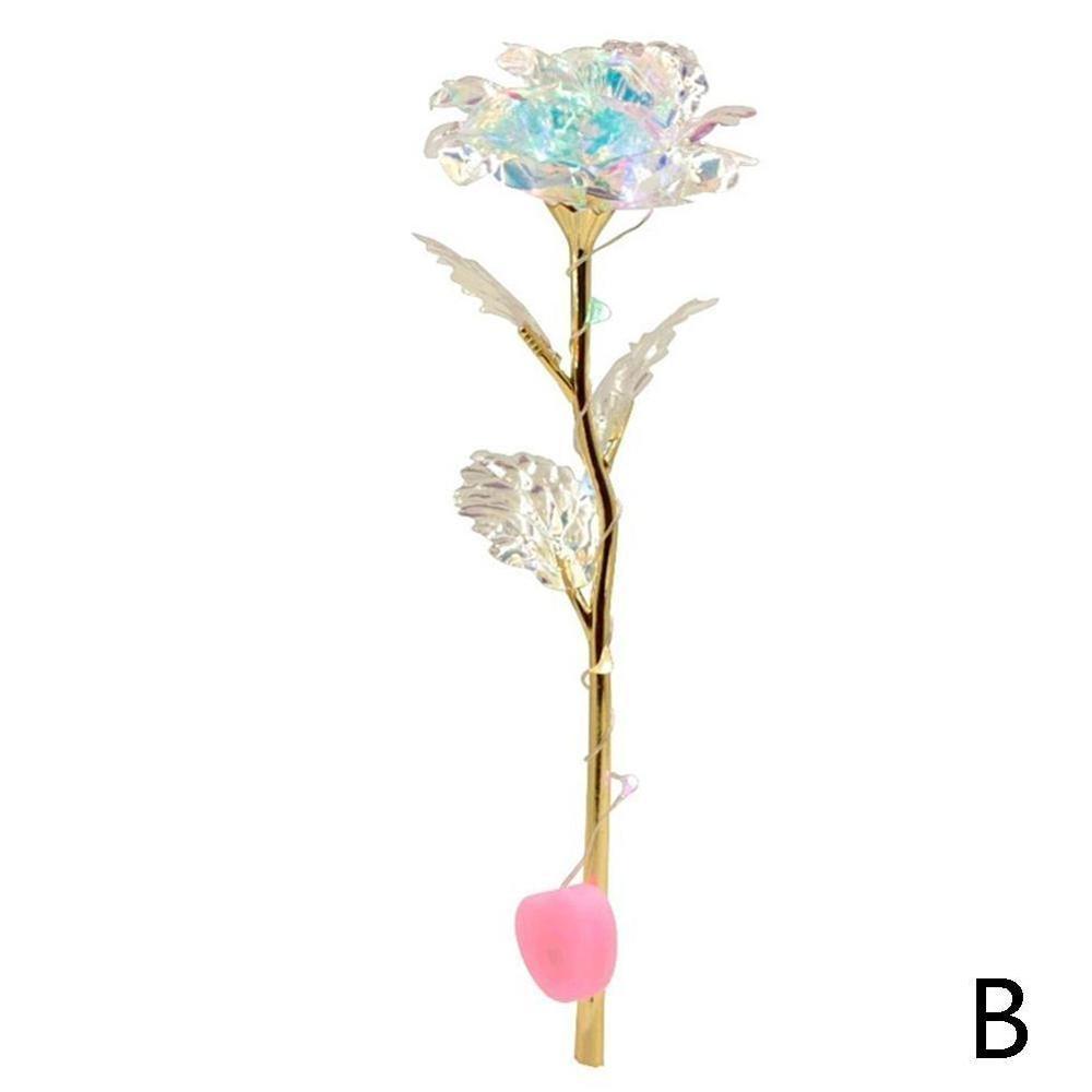 Дропшиппинг, креативный подарок на день Святого Валентина, 24 K, покрытая фольгой, розовая роза, длится навсегда, любовь, Свадебный декор, освещение для влюбленных, Роза - Цвет: B Illuminated style