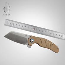 Kizer folding knife V5488C4 C01C(XL) 9.3 inch big knife with micarta handle for outdoor camping