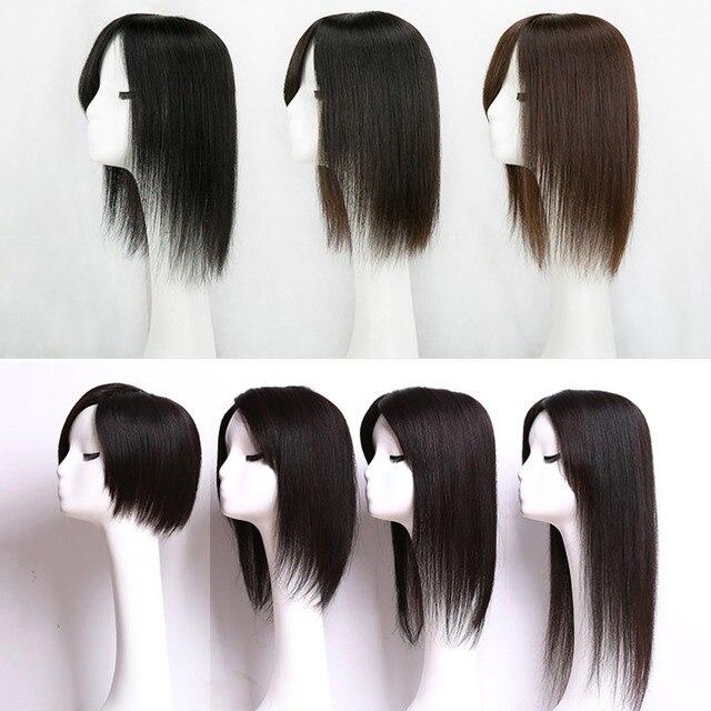 Perruque toupet Lace PU naturelle lisse-Addbeauty   Cheveux Remy, cheveux humains, Extension Double nœud naturel, Durable