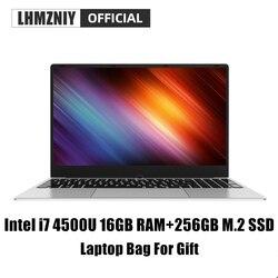 LHMZNIY RX-3 i7 4500U de M.2 SSD portátil de 15,6 pulgadas Intel 16GB RAM IPS pantalla portátil estudiante trabajo de oficina BT WiFi