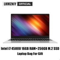 LHMZNIY RX 3 i7 4500U Gaming M.2 SSD laptop 15.6inch Intel 16GB RAM IPS display Notebook Student Office Work BT WiFi