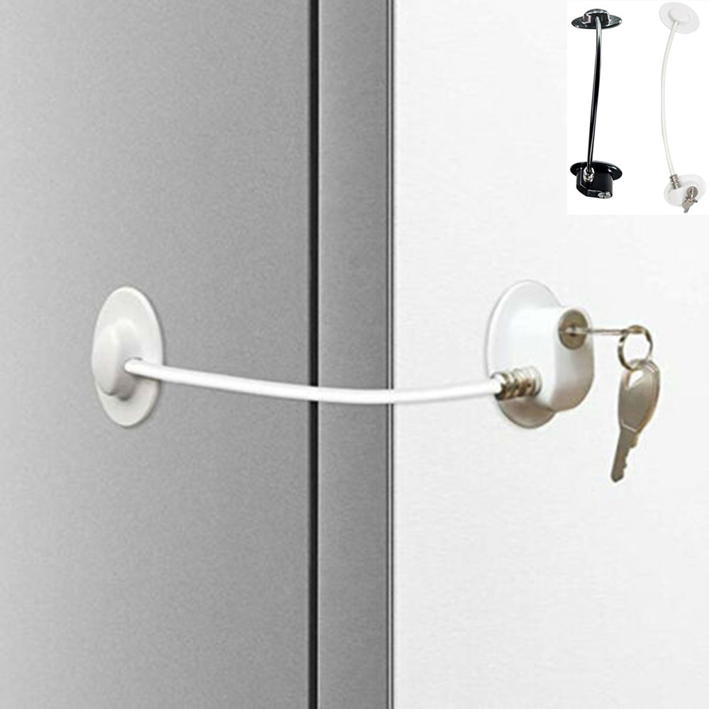 Refrigerator Door Lock With Key Fridge Freezer Lock Child Proof Safety Lock
