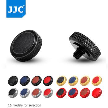 JJC Deluxe kamera spust migawki metalowe dla Fujifilm X100V X-T4 XT30 XT20 XT10 XT3 XT2 XPRO2 X100F X100T Sony RX1R RX10IV tanie i dobre opinie System Kamery lustra Pakiet trójkąt Torby aparatu Pure Copper+Microfiber Leather Soft Release button Black Red Gray Gold