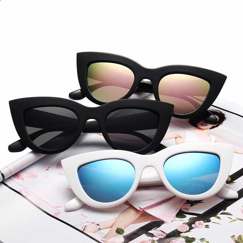 1 PC Cat Eye Sunglasses Women Vintage Round Sunglasses Full Frame Glasses Inspired Round Circle Driver Goggles