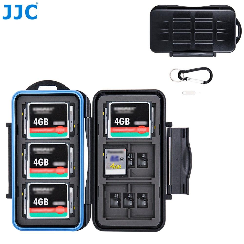 Caixa resistente à água para canon/nikon/sony/fujifilm/olympus/leica câmera armazenamento de cartão de memória jjc sd/msd/cf cards