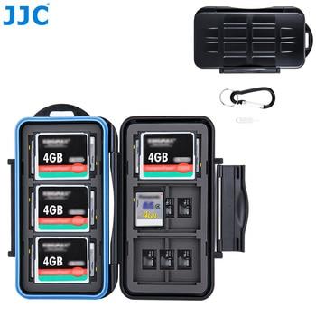 цена на JJC Memory Card Case Holder Storage Organizer for SD MSD CF Cards for Canon Nikon Sony Fujifilm Olympus DSLR Mirrorless Camera