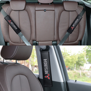 Image 5 - Araba 2 adet rahat emniyet kemeri seti omuz pedi yastık Mitsubishi Evo X için RVR Mirage Grandis Ralliart Lancer Outlander ASX