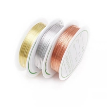 1roll Copper Wire Color Dia 0.2 0.3 0.4 0.5 0.6 0.7 0.8 1mm Beading Thread Gold Silver Metal String For DIY Jewelry Making