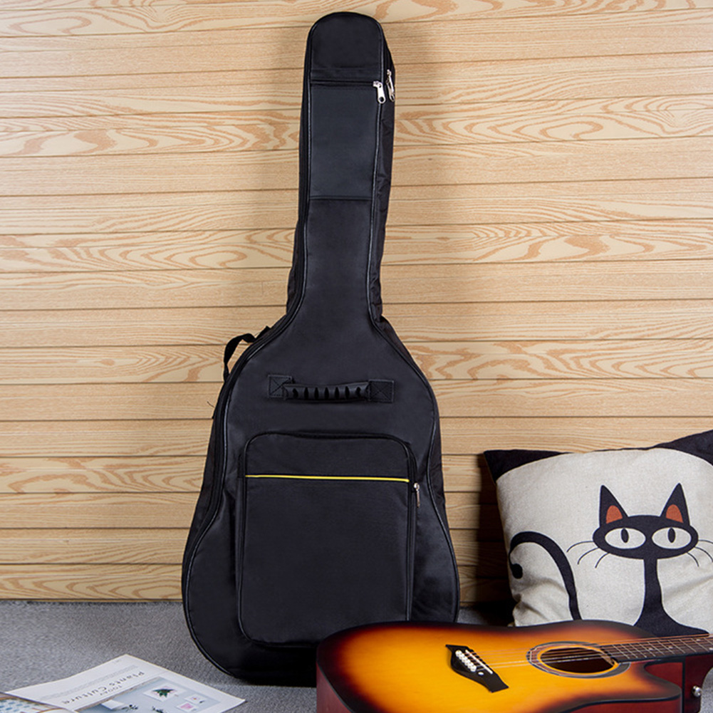 Guitar Bag Thicken Full Size Reinforced Waterproof Soft Interior Case Carry Cover Oxford Cloth Padded Protective Zipper Pockets