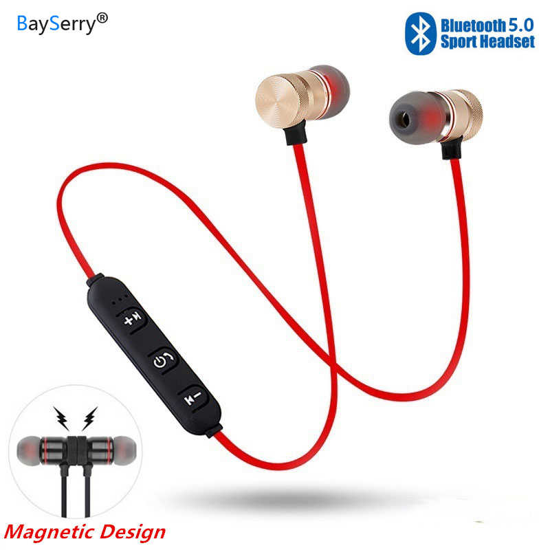 Bayserry Xt6 Bluetooth Earphone Sport Magnetic Wireless Headset For Iphone 11 Pro X Xs 7 Stereo Earbuds Music Headphone With Mic Aliexpress