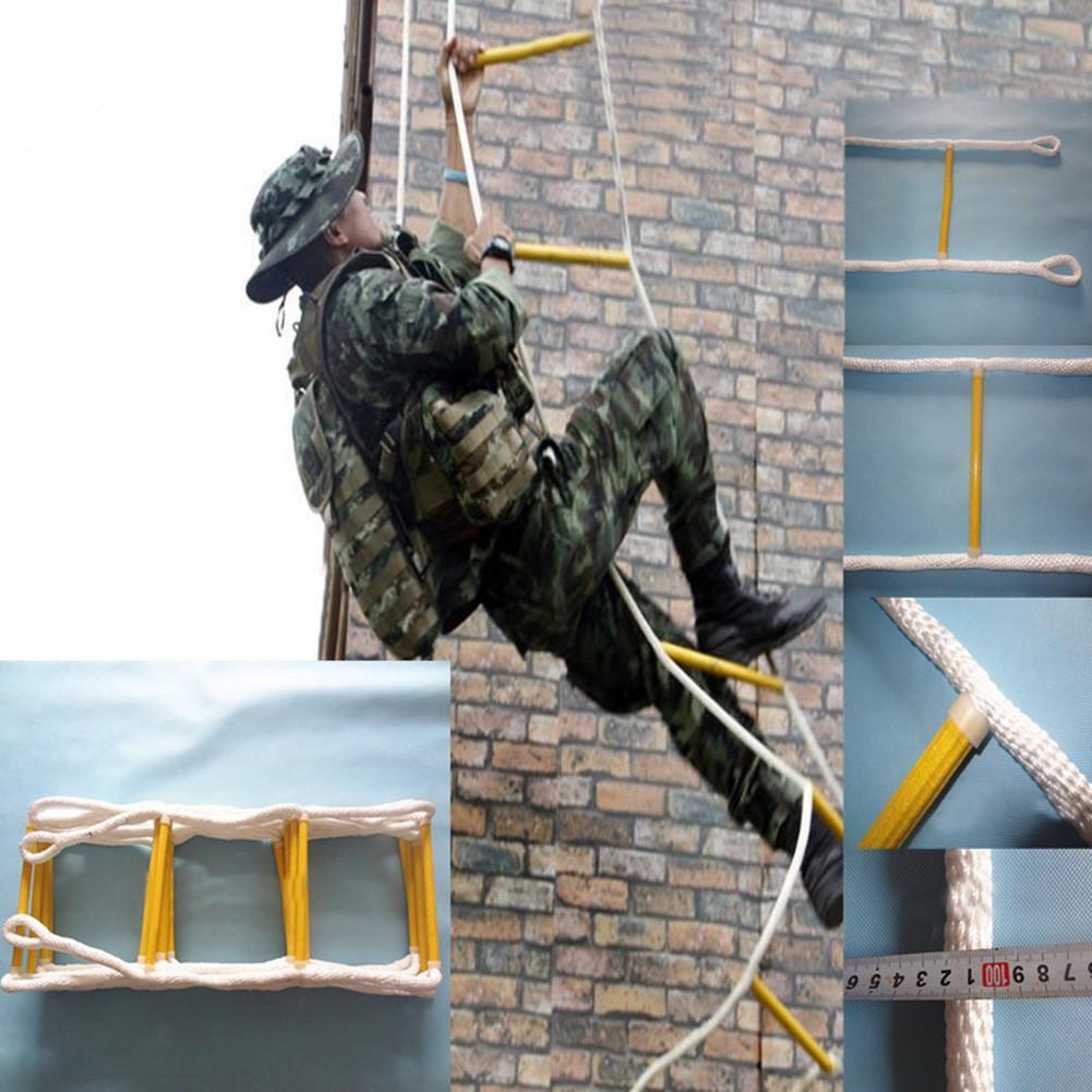 Escalade corde échelle echelle echelle echelle maison bouée de sauvetage extérieur rond Nylon echelle souple maison escalade ingénierie echelle