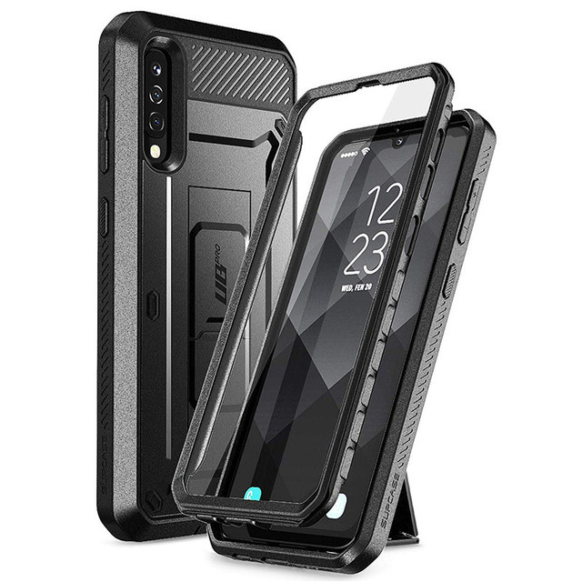 SUPCASE Samsung Galaxy A50/A30s çantası (2019) UB Pro tam vücut sağlam kılıf kılıf ile ekran koruyucu ve Kickstand
