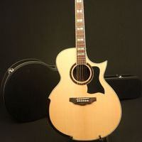 Handmade 42'' Jumbo Cutway limited Edition Electric Acoustic Guitar Solid Top Bone Nut &Saddles Include Hardcase Fishman pickup