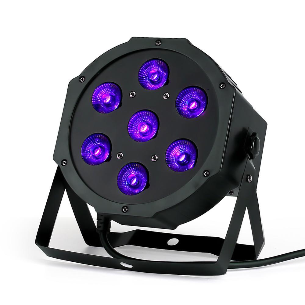 CREE RGBW 7x18W LED Flat SlimPar RGBWA UV  Light 6in1 LED DJ Wash Light Stage Dmx Light Lamp 6/10 Channes