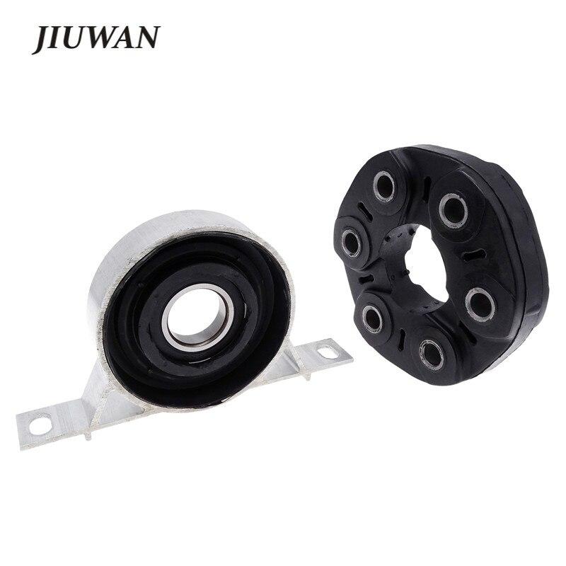 JIUWAN 1 Set Driveshaft Center Carrier Bearing Support Black Flex Disc Kit Fit For BMW 3 Series Z4 E46 26111209168 26111227420