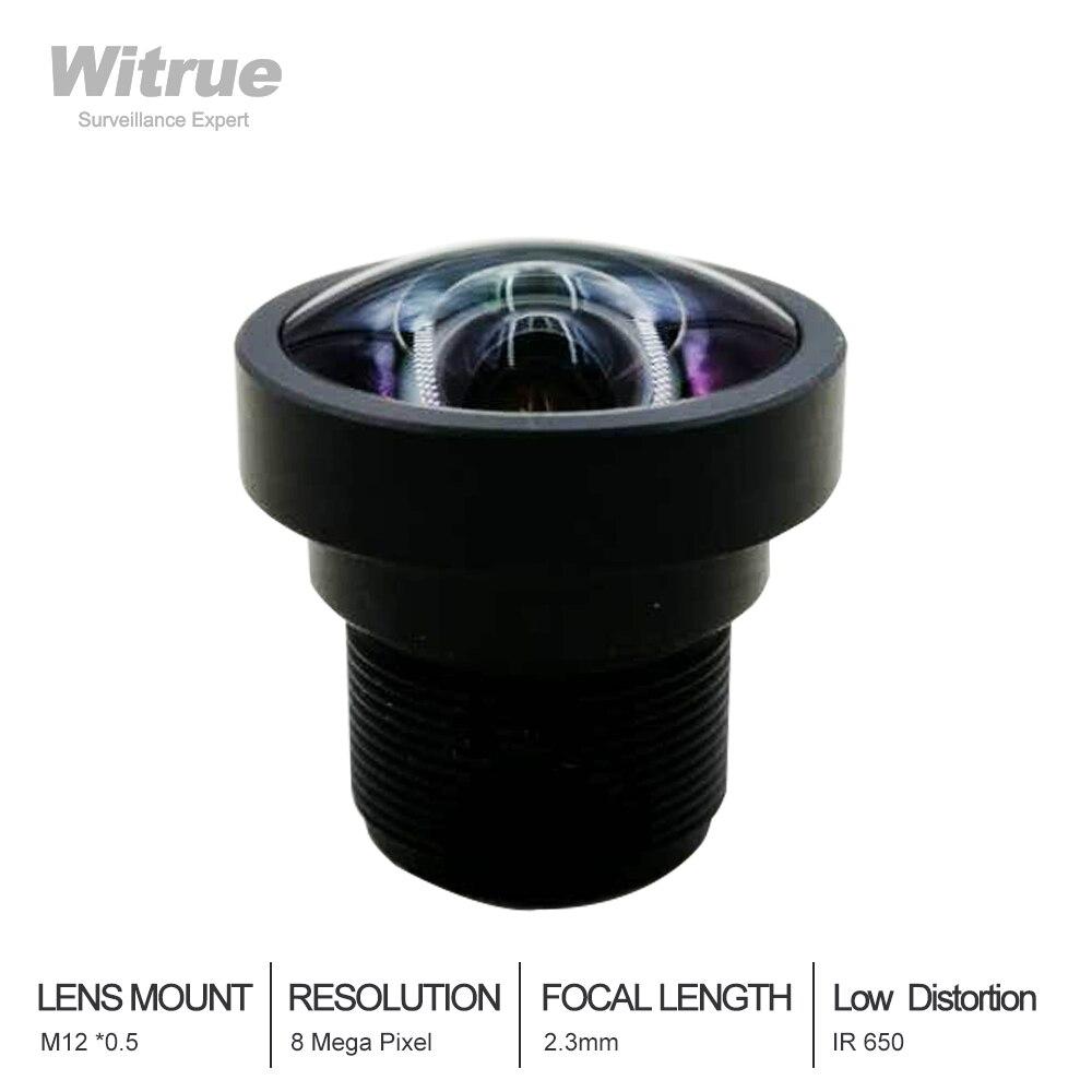 8Megapixel Fixed 1/2.5 2.3mm No Distortion F2.4 CCTV Lens For IP CCTV Camera