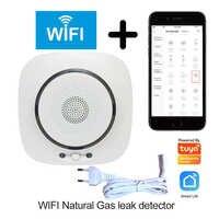 Sicherheit home smart leben Tuya WIFI küche brennbaren gas leck detektor netzwerk natürliche gas sensor LPG undicht alarm detektor