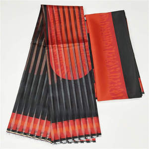 Image 3 - 2019 Hot Selling Imitated Silk African Print Fabric Organza And Ribbon For Garment Material Fabric ! F8101