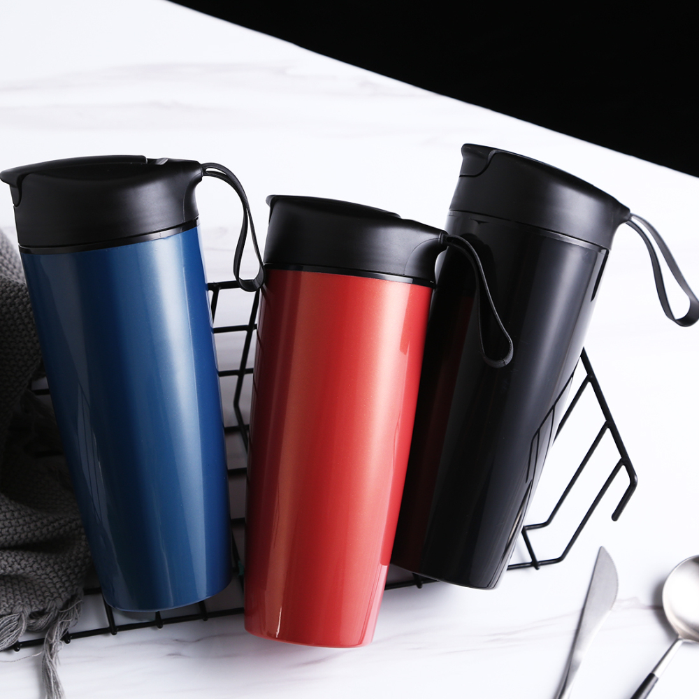 Thermos Mug Ceramic Coffee Cup Portable Insulation Thermos Creative Coffee Bottle Office Thermal Exquisite Belly Cup 600ML