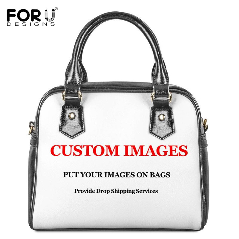 FORUDESIGNS Customized With Own Logo Printing Pu Leather Women Handbags Casual Messenger Shoulder Bags Bolsos Mujer 2019 Ladies