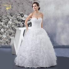 Jeanne Love Ball Gown New Wedding Dresses 2017 Off The Shoulder Sweetheart Beading Zipper Bridal Robe De Mariage JLOV75943