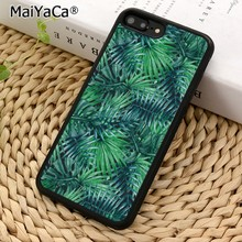 MaiYaCa Thick summer palm tree Phone Case Cover For iPhone 5 6 7 8 plus 11 pro X XR XS max Samsung S6 S7 edge S8 S9 S10(China)