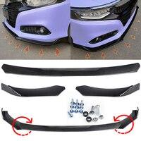 3PCS/Set Universal Black Car Front Bumper Lip Splitter Protection For Honda Benz VW Passat Front Bumper Guard Protector Cover