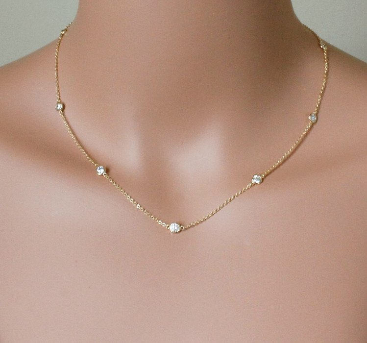 NEW Authentic 925 sterling silver cz bead cute women choker 40+5cm extend silver chain necklace(China)