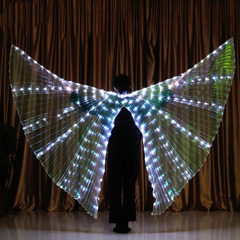 2020 Women Belly Dance Isis Wings Led Isis Wings Belly Dance Accessory Wings Costume Butterfly Wings Adult Egyptian фото