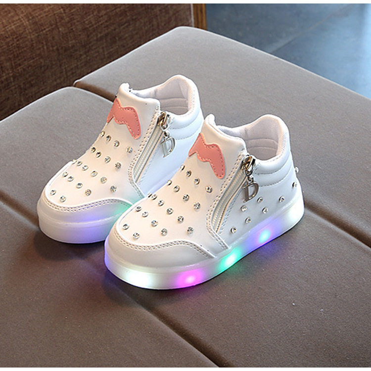 Led Luminous Shoes Glowing Sneaker Casual Kids Shoes Girls Princess Light Shoes Children Luminous Sneakers Girls Led Light Shoes