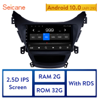 Seicane 2Din 9 Inch Android 10.0 Car Radio Head Unit For 2011 2012 2013 Hyundai Elantra GPS Multimedia Player Support Wifi RDS