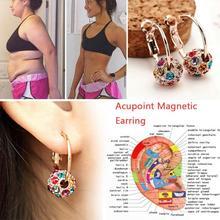 1 para magnetyczne odchudzanie kolczyki schudnąć rozluźnienie ciała masaż Slim Ear Studs Patch zdrowie biżuteria dziewczyny kobiety najlepszy prezent tanie tanio CN (pochodzenie) Pierścień magnetyczny toe Utrata masy ciała kremy
