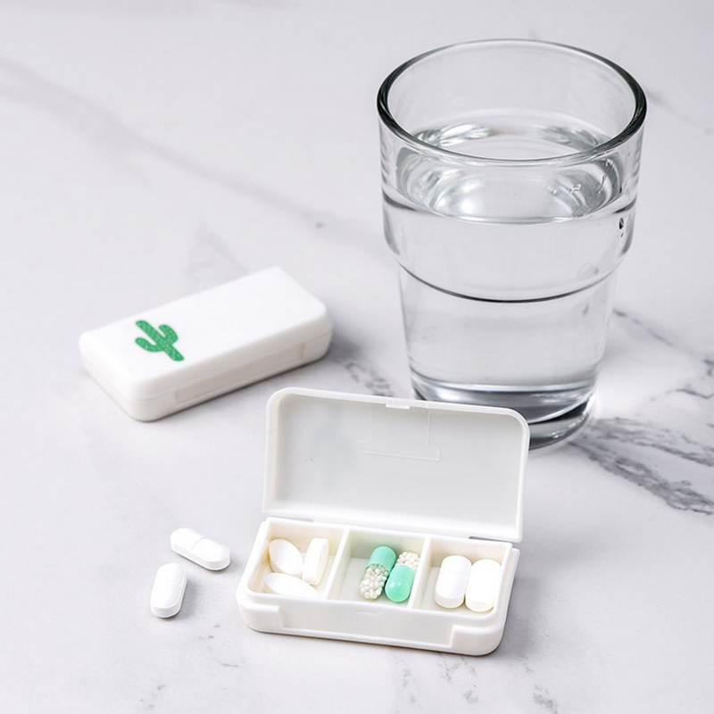 Image 4 - 1 Pc Simple Pattern Plastic Pill  Portable Medical    Boxes Three  Storage-in Storage Boxes & Bins from Home & Garden