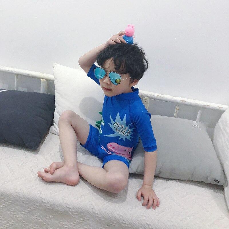 KID'S Swimwear BOY'S Infant Cartoon Pig One-piece Dinosaur Cute Tour Bathing Suit Baby Hot Springs Modeling Bathing Suit South K