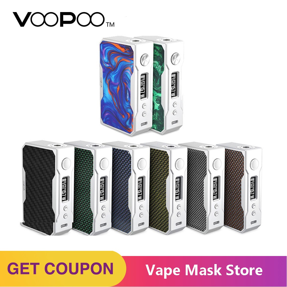 Original VOOPOO DRAG 157W TC Box MOD Temperature Control E Cigarette 157W 18650 Box Mod Vape Pro 0.05-3.0 Coil Vs Drag 2 / Mini