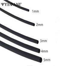 1meter 2:1 Black 1mm 2mm 3mm 4mm 5mm Wire Heat Shrink Heatshrink Tubing Tube