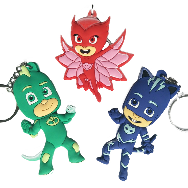 Pj Mask Juguete Anime Figure PVC Cartoon Figures Keychain Pendant Sports Toy Pj Masks Catboy Owlette Gekko Toys For Children S21