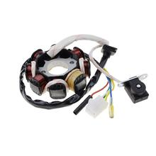GOOFIT 8 coil 5-wire ignition stator Magneto GY6 50CC 60CC 80CC 150cc QMB139 4-stroke ATV TAOTAO Paliden motorcycle K078-504
