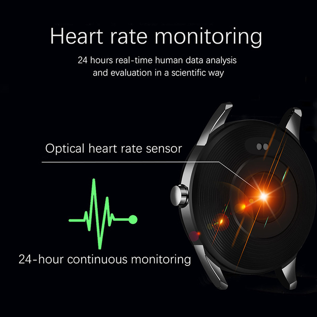 Smartwatch for Men Steel Band Heart Rate Blood Pressure Monitor Sport Multi-function Mode 4