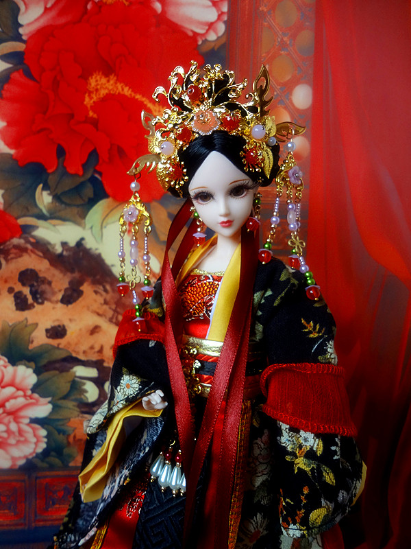 Collectible Ancient Chinese Dolls Vintage Tang Dynasty Noble Consort Princess Dolls Oriental BJD Doll Christmas Gifts