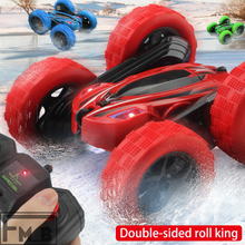 360 Degree Rotating Childrens Electric Stunt Double-sided Toy Car Outdoor Toys