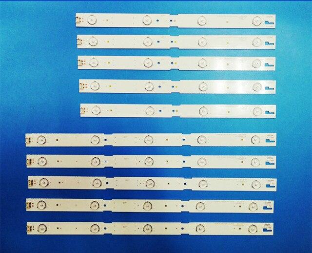 """10 قطعة/الوحدة LED الخلفية قطاع مصباح ل Samsu ng 43 """"TV 2015ACR430 2015ARC430 3228 L05 REV1.0 150716 LM41 00174A"""