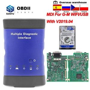 Image 1 - MDI For GM V2019.04 Multiple Diagnostic Interface OBD2 WIFI USB Scanner OBD 2 OBD2 Car Diagnostic Auto Tool MDI wi fi Scanner