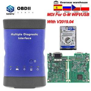 Image 1 - Per GM V2019.04 Interfaccia Diagnostica Multipla OBD2 WIFI USB Scanner OBD 2 OBD2 Auto Diagnostico Auto Strumento MDI wi fi scanner