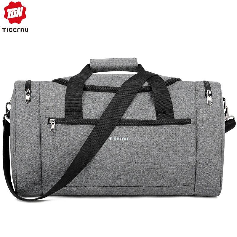 Tigernu 2019 New Large Capacity Travel Bag Men Multifunction Handbag With Shoulder Strap Waterproof High Quality