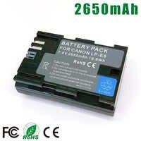 LP-E6 LPE6 LP E6 E6N LP-E6N LPE6N Paquete de batería para Canon EOS 5D 6D 7D Mark II 2 III 3 IV 4 60D 60Da 70D 80D DSLR 5DS R 5DSR XC10