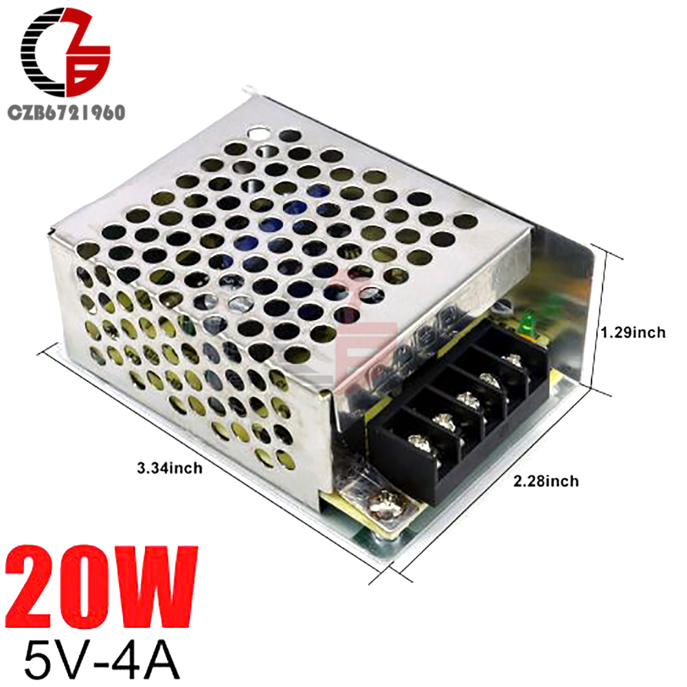 <font><b>5V</b></font> Switching <font><b>Power</b></font> <font><b>Supply</b></font> 4A 20W AC to DC LED Strip <font><b>Power</b></font> Source Adapter Transformer LED <font><b>Power</b></font> <font><b>Supply</b></font> Voltage Regulator image
