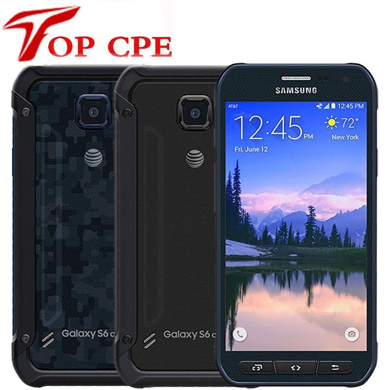 Оригинальный разблокированный мобильный телефон Samsung Galaxy S6 Active G890 G890A, восемь ядер, 3 Гб ОЗУ 32 Гб ПЗУ, 16 МП, сенсорный экран 5,1 дюйма